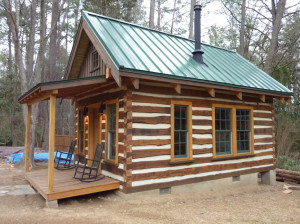 woodscapers-building-cabin